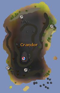 Crandor (island) map