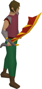 Dragon scimitar (or) equipped