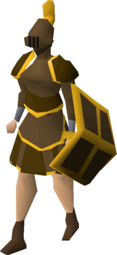 Bronze gold-trimmed set (sk) equipped
