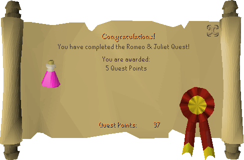 Romeo & Juliet reward scroll