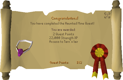 Haunted Mine reward scroll