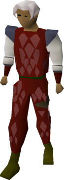 Red d'hide armour equipped