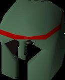 Adamant med helm detail