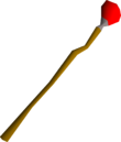Mystic fire staff detail