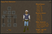 Equipment Stats interface