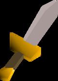 White dagger detail