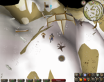 Emote clue - panic white wolf mountain