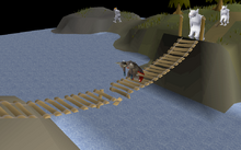 The Fremennik Isles reparing bridge