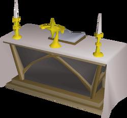 Cloth altar built