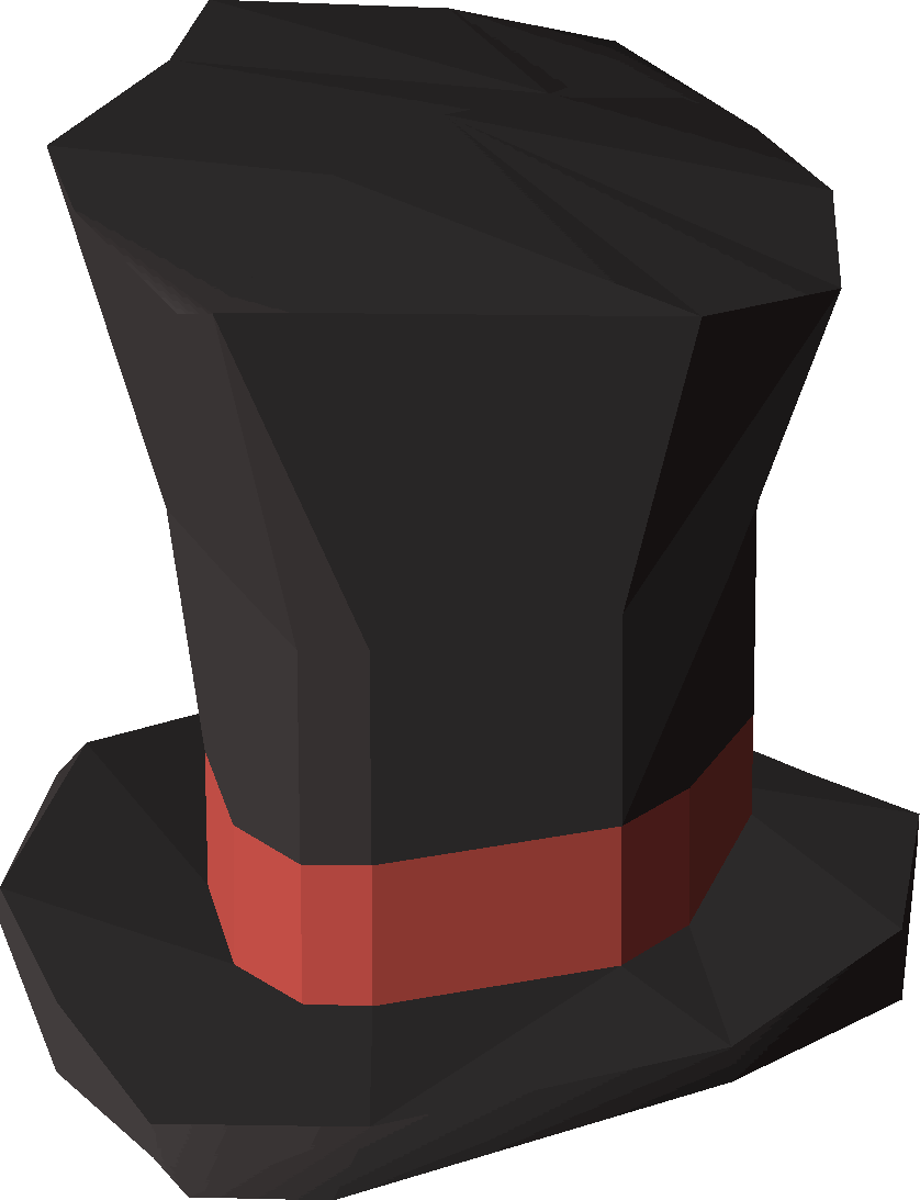 The top hat is a rare reward from elite clue scrolls. It provides no  bonuses and is purely cosmetic. 0d4f55923ce