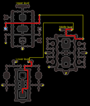 Dragon Slayer II crypt map