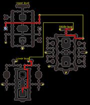 Dragon Slayer II crypt map