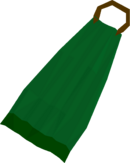 Green cape detail