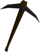Black pickaxe detail