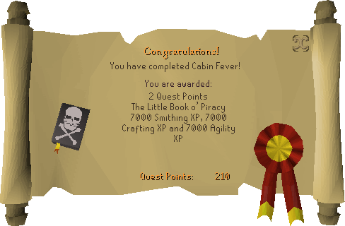 Cabin Fever reward scroll