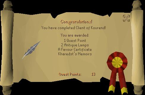 Client of Kourend reward scroll