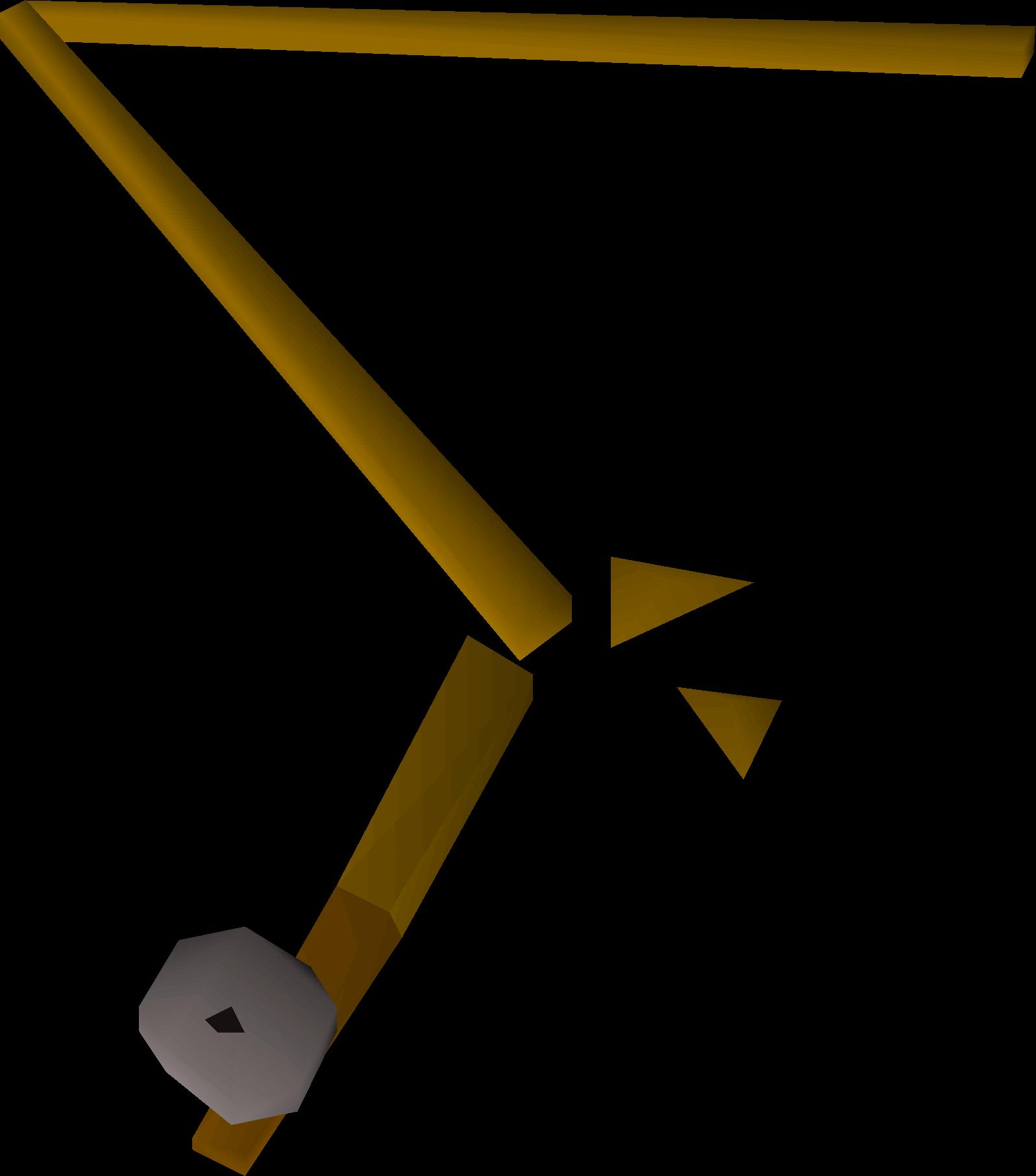 Broken fishing rod detail