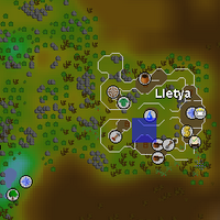 Hot cold clue - Lletya map