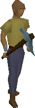 Broken pickaxe (rune) equipped