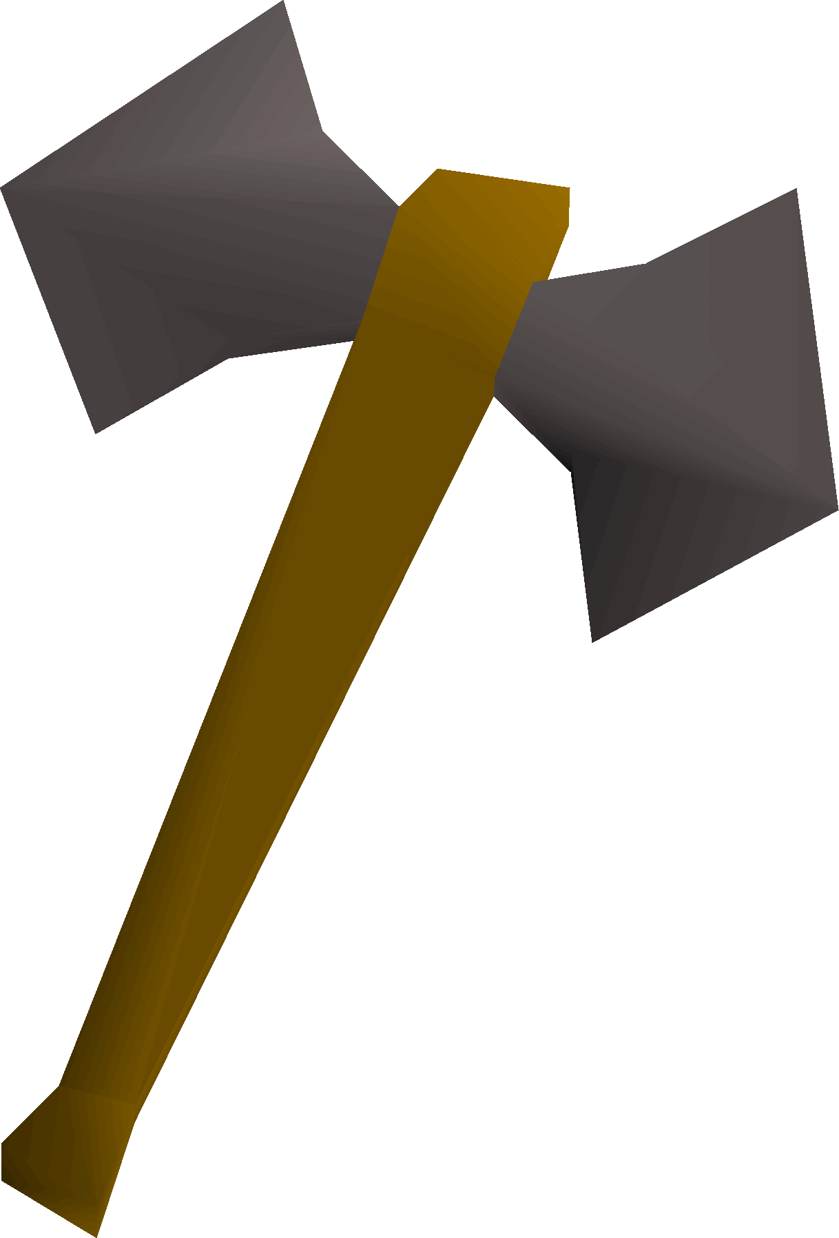 Iron battleaxe detail