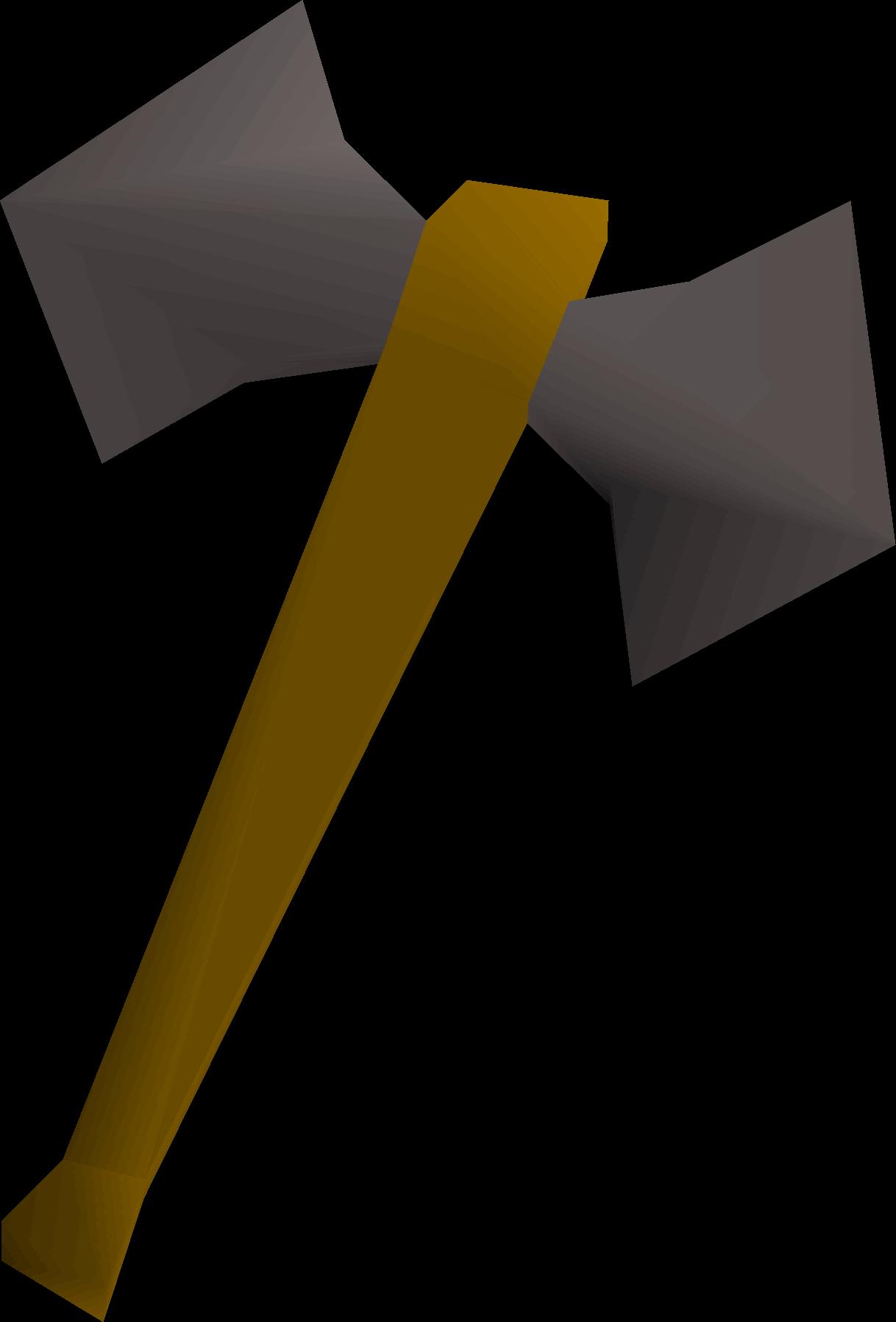 Iron battleaxe detail