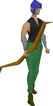 Longbow equipped