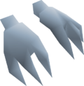 Snow imp costume gloves detail