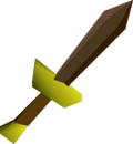 Bronze dagger detail