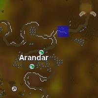 Hot cold clue - Arandar map