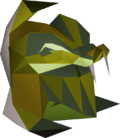 Serpentine helm (uncharged) detail