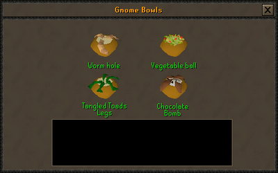 Gnome bowl preparing interface