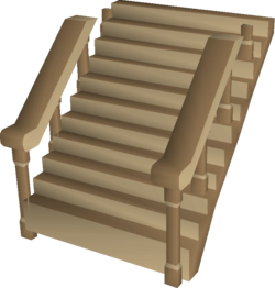 Oak staircase built