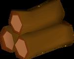 Redwood pyre logs detail