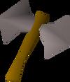 Steel thrownaxe detail
