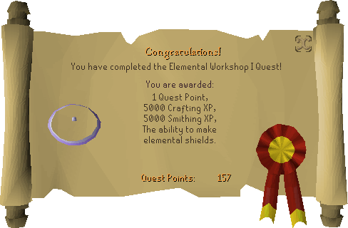 Elemental Workshop I reward scroll
