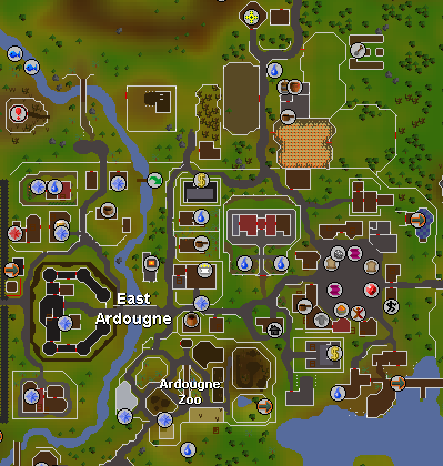 Old School Runescape In Game Map - Design Templates