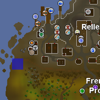 Hot cold clue - outside Rellekka fence map