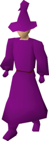 Purple robes equipped