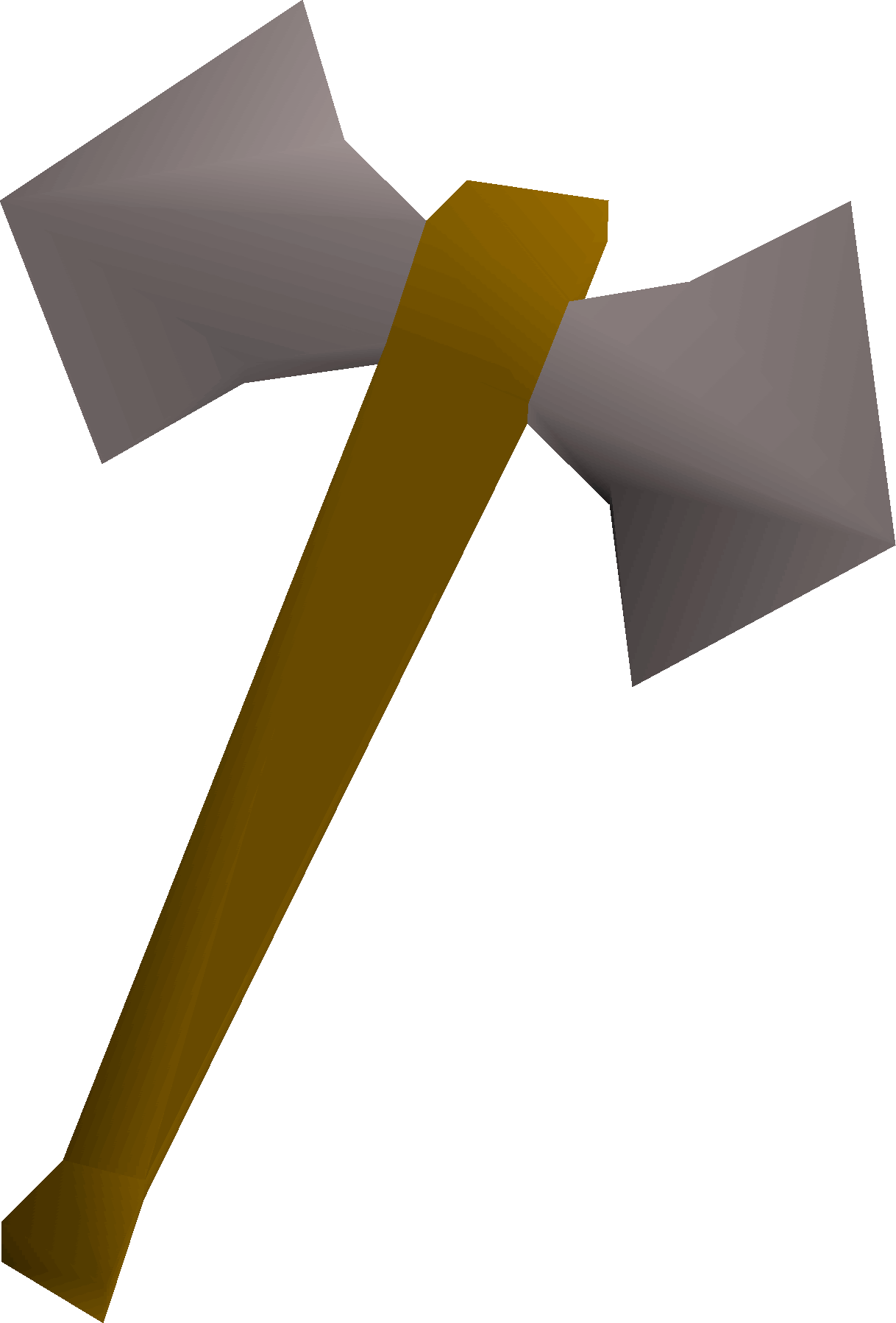 Steel battleaxe detail