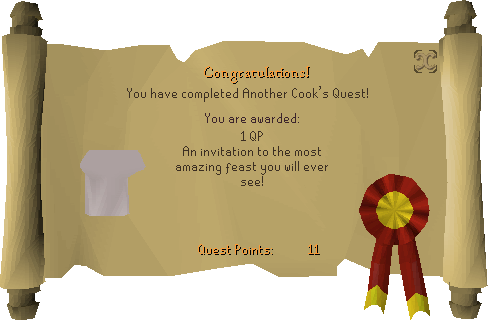 Another Cooks Quest reward scroll