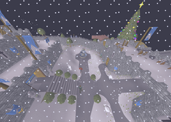 Snowy Lumbridge Castle