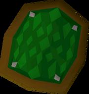 Green d'hide shield detail