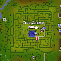 Hot cold clue - Tree Gnome Village map