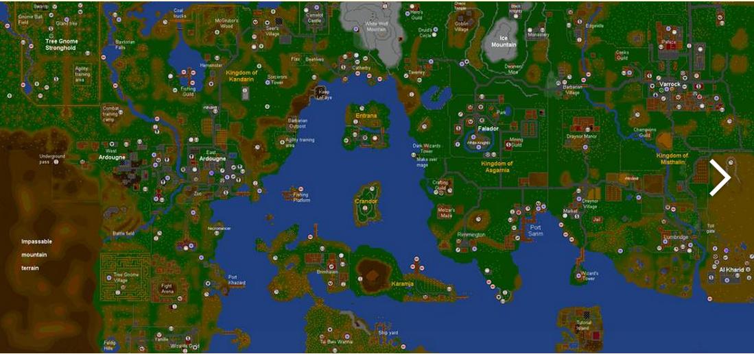 Runescape Classic World Map   Global Map