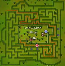 Tree Gnome Village maze map