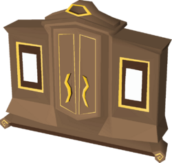Gilded magic wardrobe built