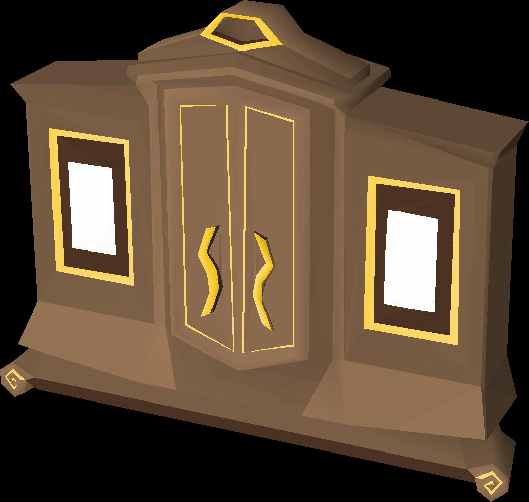 Carved Teak Magic Wardrobe.Gilded Magic Wardrobe Old School Runescape Wiki Fandom Powered