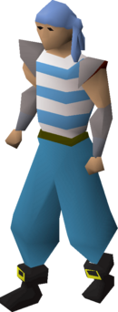 Pirate clothing (blue) equipped