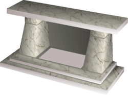 Marble fireplace built