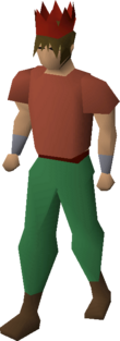 Red partyhat equipped